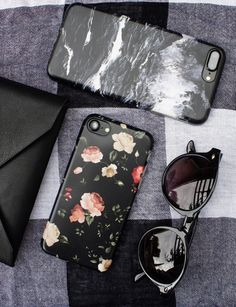Dark Rose & Black Marble Case for iPhone 7 & iPhone 7 Plus from Elemental Cases