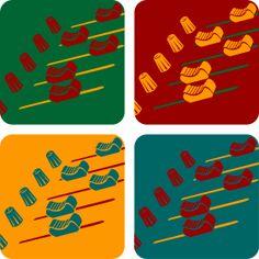 Musik Mischpult Warhol - DJ Musik Mischpult mit seinen vielen kleinen Reglern im Andy Warhol Design.