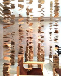 Nen-Rin Installation by Kazunori Matsumura, Asahikawa Installation possibility for Piles of Hope Land Art, Modern Art, Contemporary Art, Asahikawa, Instalation Art, Artistic Installation, Paper Installation Art, Exhibition Display, Exhibition Ideas