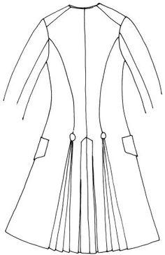 Giacca marsina con falde (dietro)
