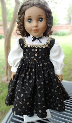 """RESERVED LISTING 18"""" Doll Clothes Civil War Style Gown Fits American Girl Marie…"""