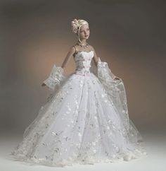 Tonner- and Wentworth dolls Barbie Bridal, Barbie Wedding Dress, Wedding Doll, Barbie Gowns, Barbie Dress, Barbie Clothes, Wedding Dresses, Barbie Torte, Barbie E Ken