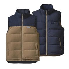 Patagonia Men's Reversible Bivy Down Vest - Ash Tan ASHT