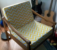 Custom made chair cushion covers by CarolsCustomCovers on Etsy, $50.00