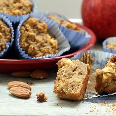A culinary miracle! Apple Cake Muffins that are #vegan , #glutenfree , oil-free, refined #sugarfree , yet bursting with flavor and richness!