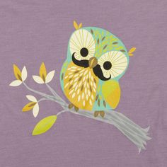 Mustachioed Owl  This trendy owl is sporting a fancy mustache in this Spring 2012 tee.  $28