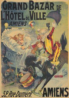 Grand Bazar de l'Hôtel de Ville - Amiens - 1898 - illustration de Jean de Paleologue -