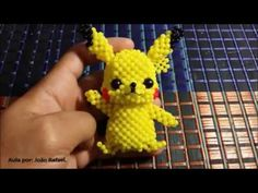Beading Projects, Beading Tutorials, Beading Patterns, Pikachu, Bead Loom Designs, Beaded Angels, Hair Bow Tutorial, Beaded Boxes, Beaded Crafts