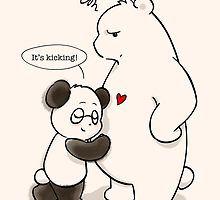 ' by Panda And Polar Bear Panda Funny, Cartoon Panda, Cute Cartoon, Cute Panda Drawing, Polar Bear Drawing, Happy Birthday Bear, Happy Birthday Drawings, Panda Hug, Panda Love