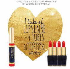 A great amount of product for just $25 per color! 4 tubes of lipstick = 1 LipSense!  http://www.facebook.com/groups/lusciouslipsbyali