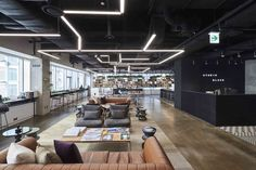 Open Office Design, Gym Design, Office Interior Design, Office Interiors, Loft Office, Office Lounge, Office Workspace, Creative Office Space, Ceiling Plan