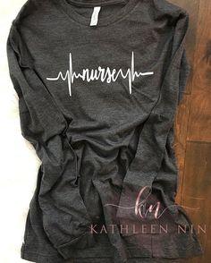 Items similar to Nurse Shirt - Nurse Heartbeat Shirt - Nurse EKG Shift - Nurse Gift - Gift for Nurse - Nursing Student - Student Nurse Gift on Etsy Nursing School Shirts, Nursing Student Gifts, Nursing Clothes, Nursing Students, Student Nurse, Nursing Schools, Nursing Shirt, Nursing Graduation, Nurse Life