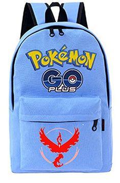 Cosplay Rucksack Pokemon Go plus Schulrucksack Unisex für…