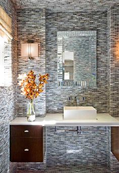 modern bathroom tiling