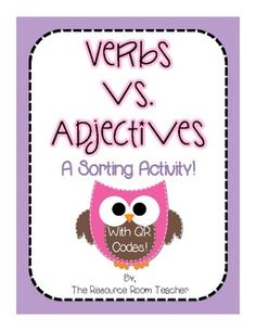 Adjectives is a great way for your students to practice parts of speech! Just print, cut out and laminate the cards (for durability). Teaching Grammar, Teaching Language Arts, Classroom Language, Help Teaching, Teaching Ideas, Adjective Words, 2nd Grade Ela, Word Sorts, Sorting Activities
