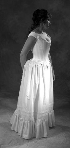 c. 1660 Cavalier Restoration Moliere Corset in White cotton. $425.00, via Etsy.
