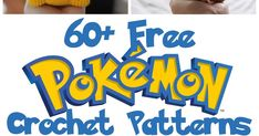 Free Pokemon Crochet Patterns : I feel like everything is starting to come back around again when my kids ask to watch show I have nostalgia about including Pokemon. Pokemon Crochet Pattern, Pikachu Crochet, Crochet Coaster Pattern, Crotchet Patterns, Crochet Amigurumi Free Patterns, Crochet Animal Patterns, Crochet Game, Crochet Toys, Crochet Pencil Case