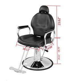 Exacme Reclining Hydraulic Barber Chair Salon Beauty Spa Shampoo Black 9838