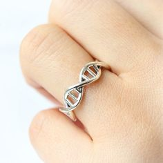 DNA Ring in 925 sterling silver /DNA Eternity Band Ring – LAONATO