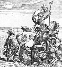 "Poseidon taking chocolate from Mexico to Europe.  ""Chocolata inda Opusculum ..."", Antonio de Ledesma, 1644."