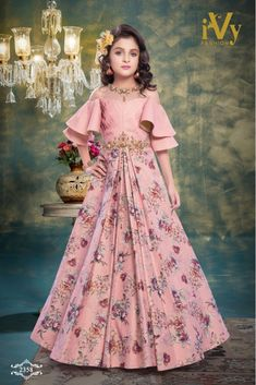 Designer Kids Gown with Price Kids Party Wear Dresses, Girls Party Wear, Kids Dress Wear, Kids Wear For Girls, Kids Party Wear Frocks, Party Gowns, Frocks For Girls, Gowns For Girls, Dresses Kids Girl