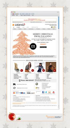 Brand: Zalando | Subject: ✩ Merry Christmas from Zalando! Enjoy a gift of £15 from us to you! ✩ | Sending Date: December 25, 2012
