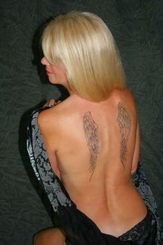 Black and White Full Back Tattoo Designs | tattoos tattoo designs for men angel skull candy tattoos full back ...