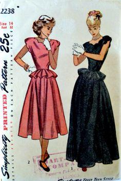 Vintage 40s Simplicity 2238 Pattern Misses by VintageNeedleFinds,