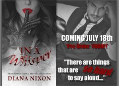 #InAWhisper by #DianaNixon will be out on #July18th!!!  #books #reading #romance  PRE-ORDER: https://www.amazon.com/dp/B073PRC1WV/ref=sr_1_1?s=books&ie=UTF8&qid=1499166440&sr=1-1&keywords=diana+nixon+in+a+whisper