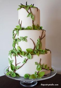 wedding cake with green leaves 1000 images about natuur taarten on wedding 26903