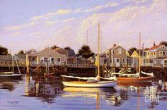 calma chicha, Nantucket. Sergio Roffo. Pintor estadounidénse, nacido en Italia en 1953.