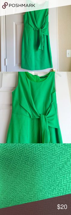 """The Limited Dress Beautiful Kelley Green dress from The Limited. Tie accent at waist is very flattering. Great dress for work or play. 100% Polyester. Fully lined. Measures (front): Chest 17"""", waist 15"""", length from waist 23"""", from shoulder 37"""". Size 6. The Limited Dresses Midi"""