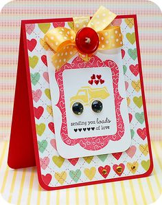 Sending you Loads of Love Card using Kid at Heart stamps By Lea Lawson #ValentinesLove