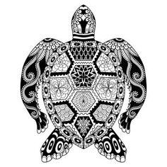 zentangle: Dibujo tortuga zentangle de la página para colorear, camisa efecto de diseño, logotipo, tatuaje y decoración.