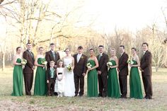 Rustic Southern Wedding Party
