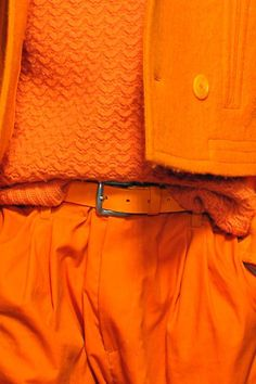 "wgsn: "" We are loving: Orange! The first day of the London Collections: Menswear shows was unavoidbly… orange. demonstrates how to execute the hue from head-to-toe. Orange Pastel, Jaune Orange, Orange Yellow, Burnt Orange, Orange Color, Orange Shades, Pantone, Orange Aesthetic, Aesthetic Colors"