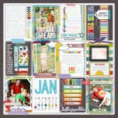 totally awesome Project Life page! (by tracermajig at Designer Digitals) like the calendar card