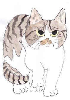 CUTE画「とら猫」[猫舌ゆみこ] | ART-Meter