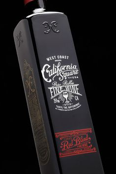 Stranger & Stranger redefines the wine bottle with California Square, a line of beautifully designed square bottles of California Wines.