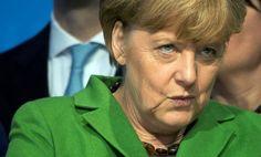 Bundeskanzlerin Merkel (CDU): Anspannung vor dem langen Wahlabend