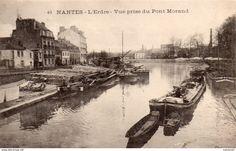 Nantes Belle Vue De L'Erdre Prise Du Pont Morand Péniches Gabares Batellerie Navigation - Nantes