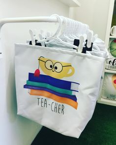 Tea-cher Totes are a perfect end of year gift! Pick one up at @torontodesignersmarket and snap a photo! I'd love to share on my page! . . . . . #alittleleafy #teachergifts #teacher #teachersofinstagram #teacherappreciation #teachers #teacherlife #teachergift #teacherappreciationweek #handmade #thankyou #school #teachersday #teachersofig #endofschoolyear #personalisedgifts #teacherday