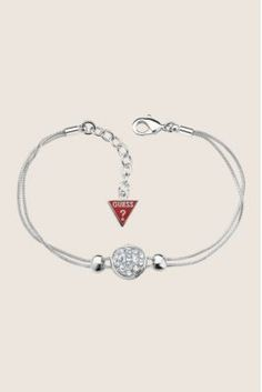 I'm really into simple chain bracelets right now! Sliding Into Love Silver Chain Bracelet. #Guess