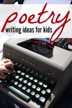 14 Poem Ideas and Writing Prompts for Kids 14 creative poetry writing ideas for kids to write poems! Poetry Books For Kids, Poetry Unit, Writing Poetry, Kids Writing, Creative Writing, Writing Ideas, Poetry Prompts, Writing Resources, Writing Inspiration