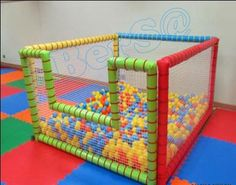 Ebat : 150 x 150 x Home Daycare, Kids Daycare, Daycare Design, Toddler Playroom, Pvc Pipe Projects, Kids Play Area, Toy Rooms, Indoor Playground, Baby Play