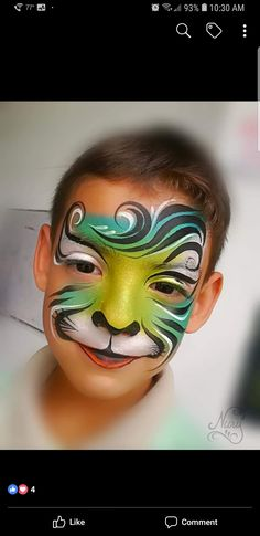 Girl Face Painting, Face Painting Designs, Body Painting, Face Paintings, Tiger Face Paints, Summer Fair, Boy Face, Face Art, Face And Body