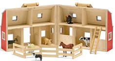 toy stable plan | NEW Wooden FARM BARN Set Childrens Activity Toy Animals Melissa and ...
