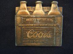 Vintage Coors Beer Bottle belt buckle by BeltBuckleQueen on Etsy, $36.00