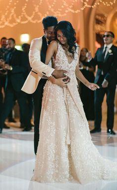 See Chanel Iman's Dreamy Wedding Dresses Wedding Dresses For Sale, Wedding Party Dresses, Wedding Suits, Chic Wedding, Bridal Dresses, Chapel Wedding, Celebrity Prom Dresses, Celebrity Weddings, Cute Wedding Ideas