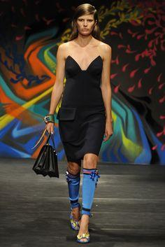 Loving the leg warmer look---props to Prada for being bold this season! Prada RTW Spring 2014